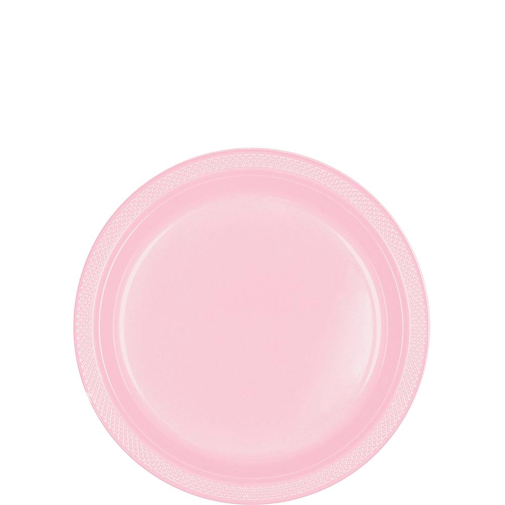 Blush Pink Plastic Dessert Plates 20ct Image #1