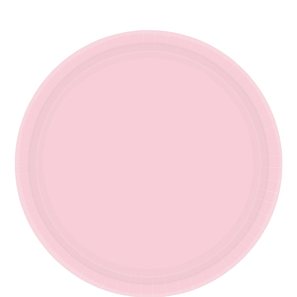 Blush Pink Paper Lunch Plates 20ct Image #1
