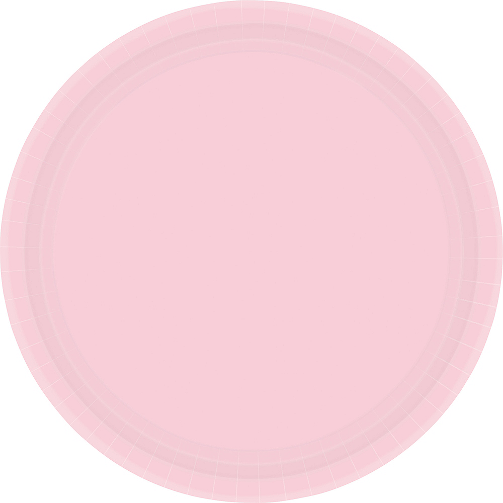 Blush Pink Paper Dinner Plates 20ct Image #1