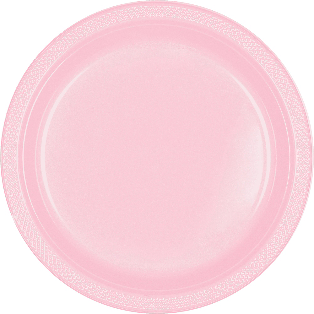 Blush Pink Plastic Dinner Plates, 10.25in, 50ct Image #1