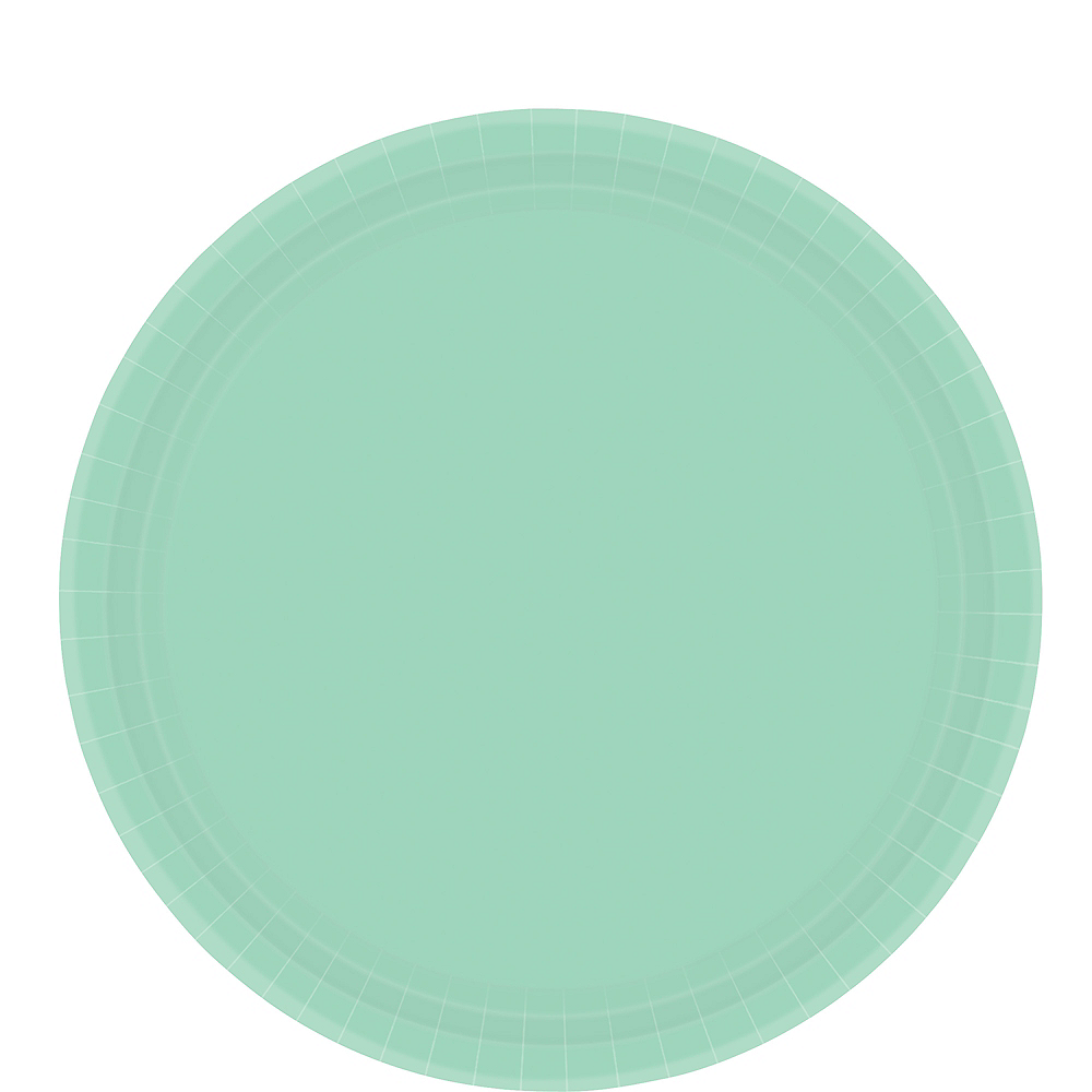 Cool Mint Paper Lunch Plates 20ct Image #1