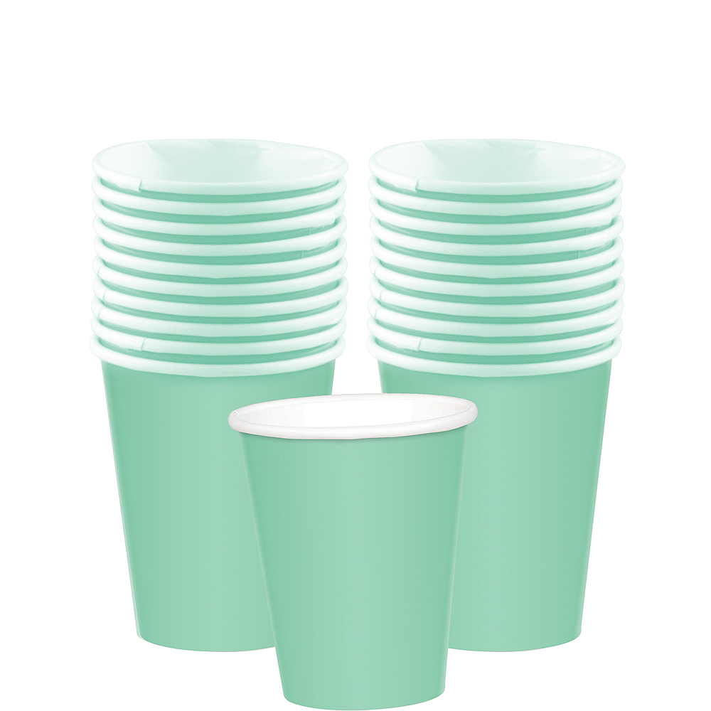 Cool Mint Paper Cups 20ct Image #1