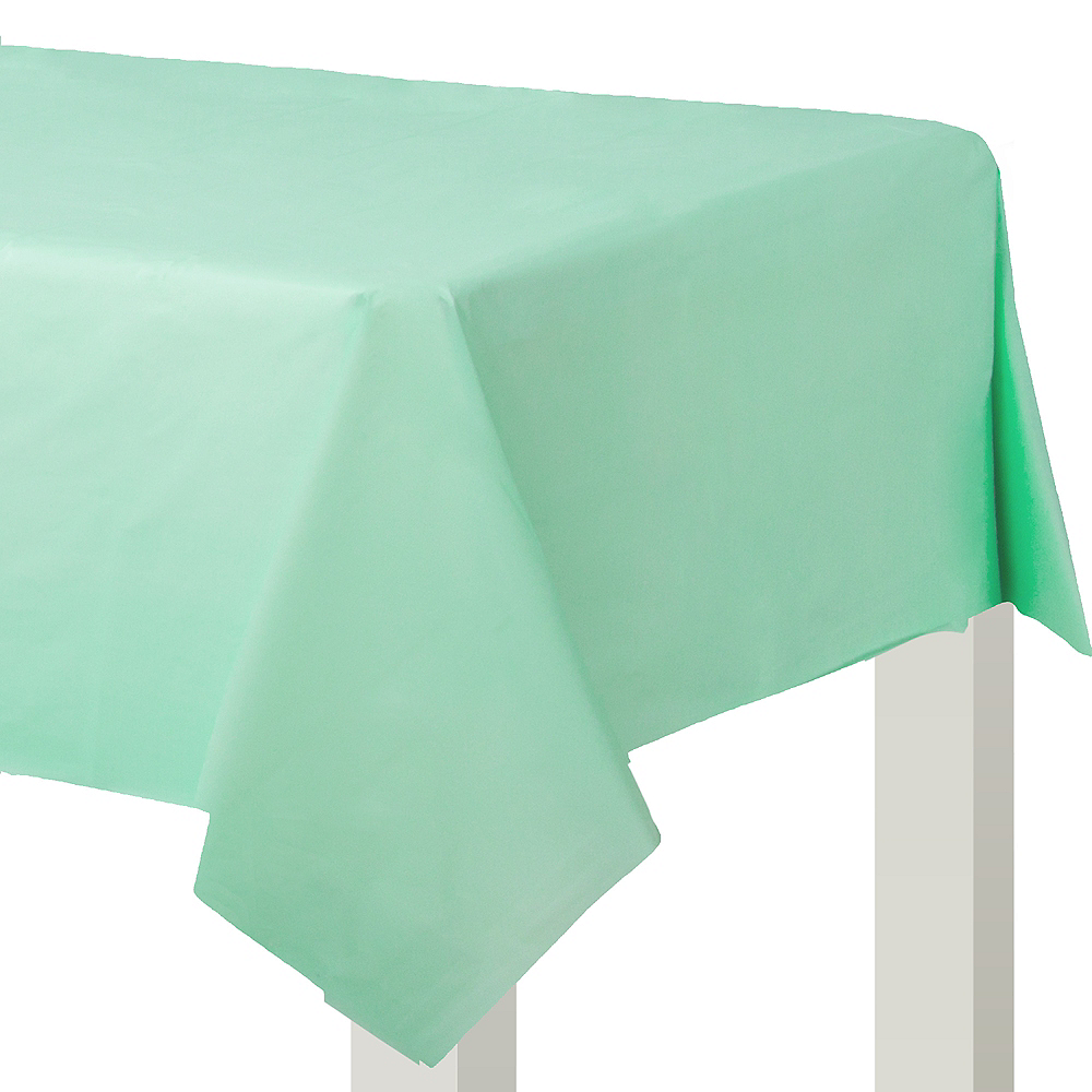Cool Mint Plastic Table Cover Image #1