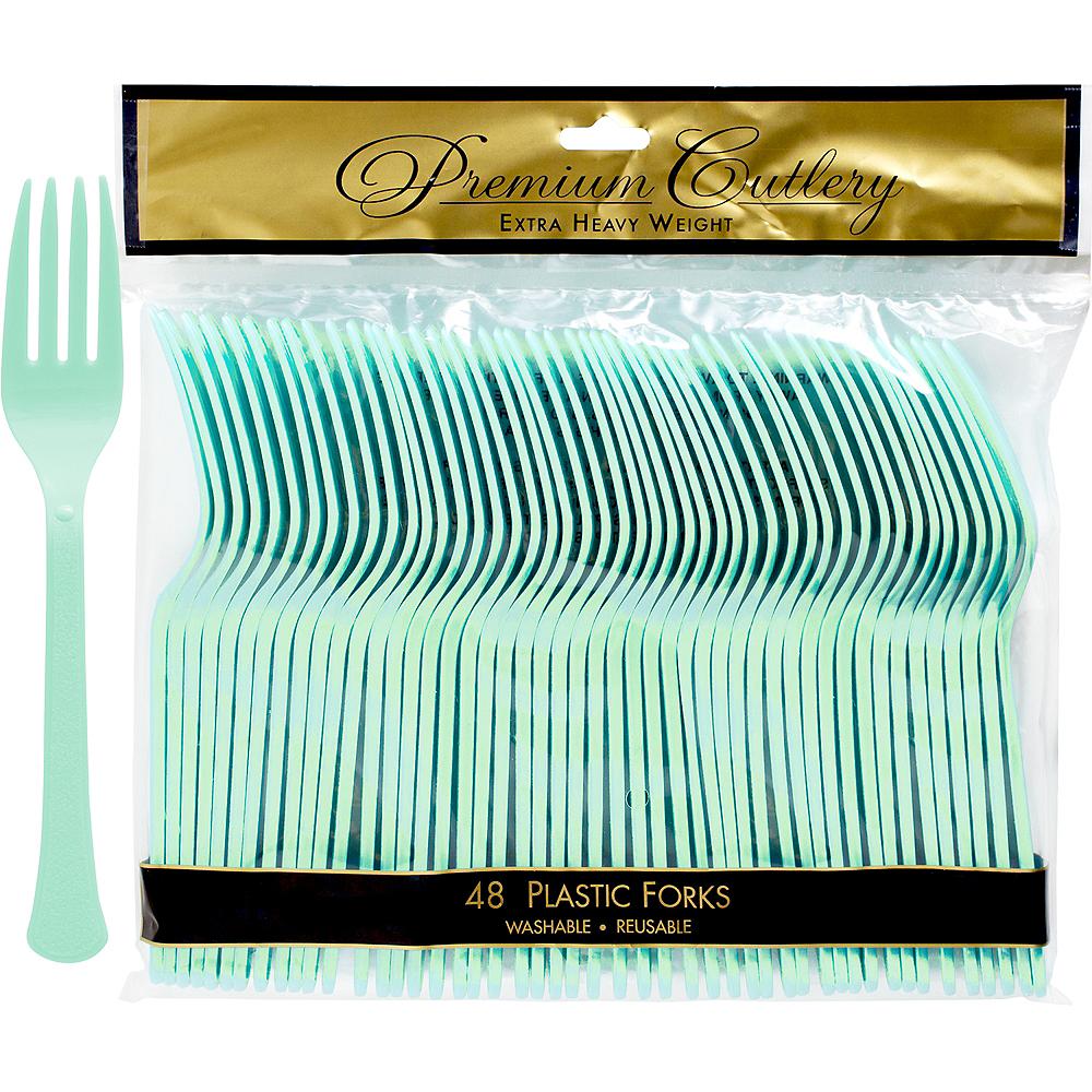 Cool Mint Premium Plastic Forks 48ct Image #1