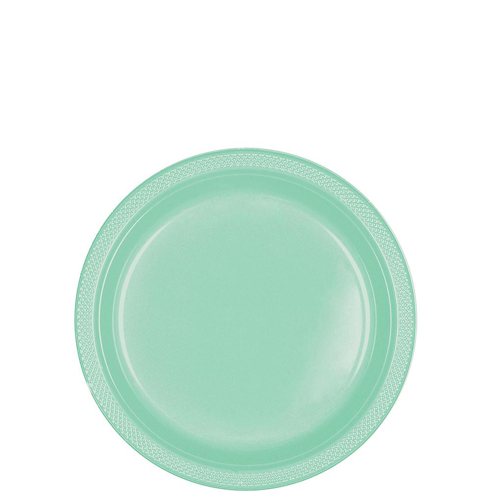 Cool Mint Plastic Dessert Plates, 7in, 50ct Image #1