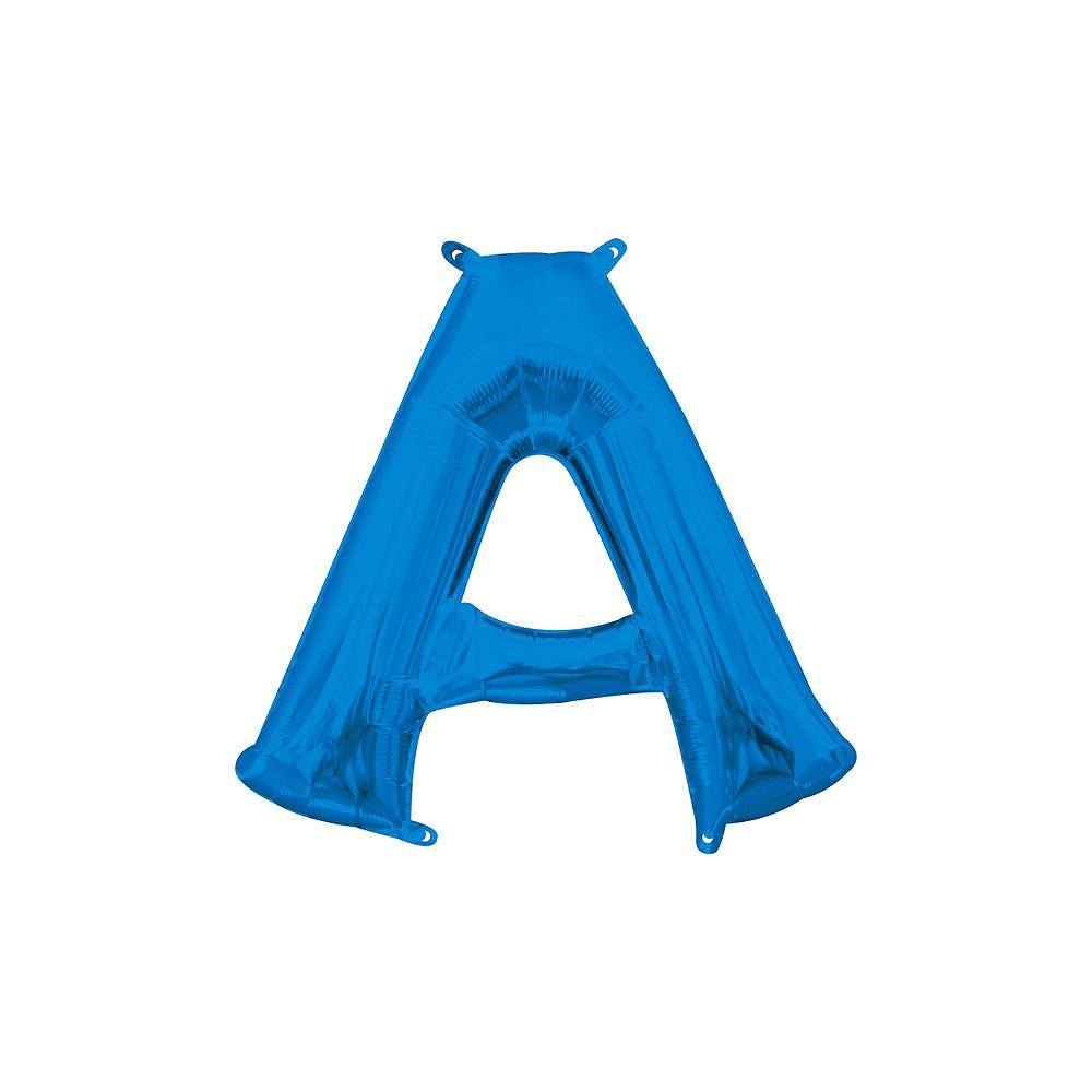 13in Air-Filled Blue Stars & Stripes Letter Balloon Kit Image #2