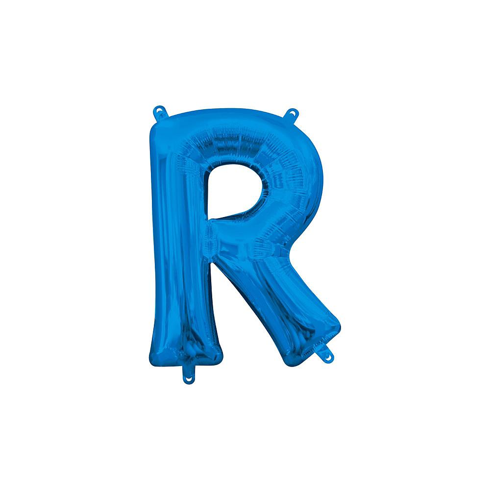 13in Air-Filled Blue Stars & Stripes Letter Balloon Kit Image #6