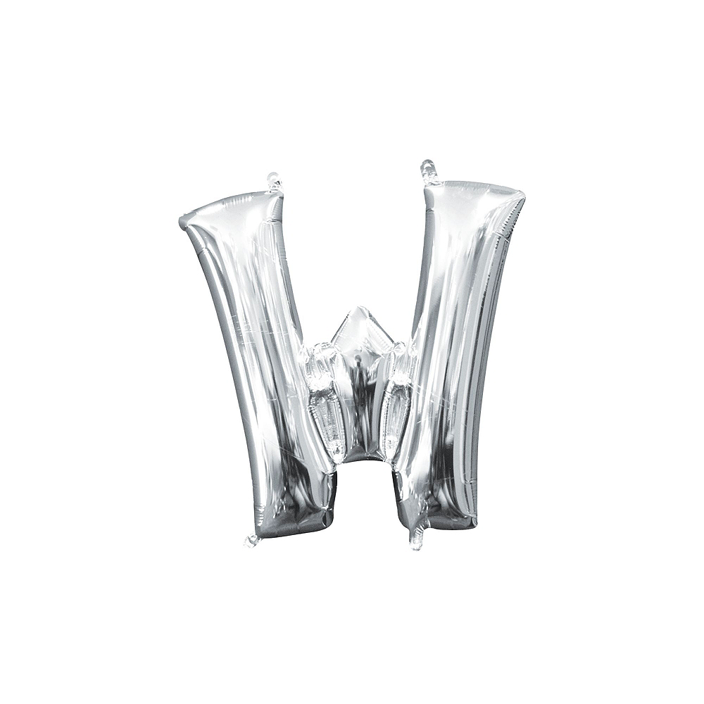 13in Air-Filled Silver Welcome Home Letter Balloon Kit Image #8
