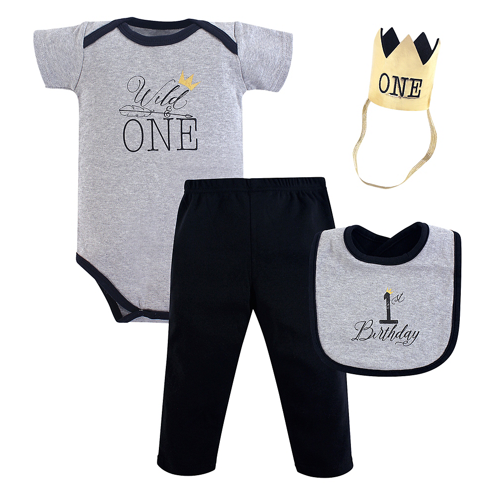 Wild One Hudson Baby Outfit Set 3pc Image #1