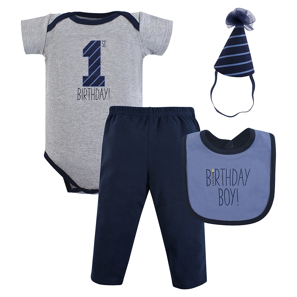 Birthday Boy Hudson Baby Outfit Set 3pc Image #1