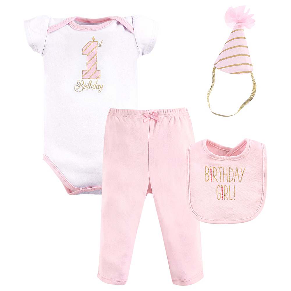 Birthday Girl Hudson Baby Outfit Set 3pc Image #1