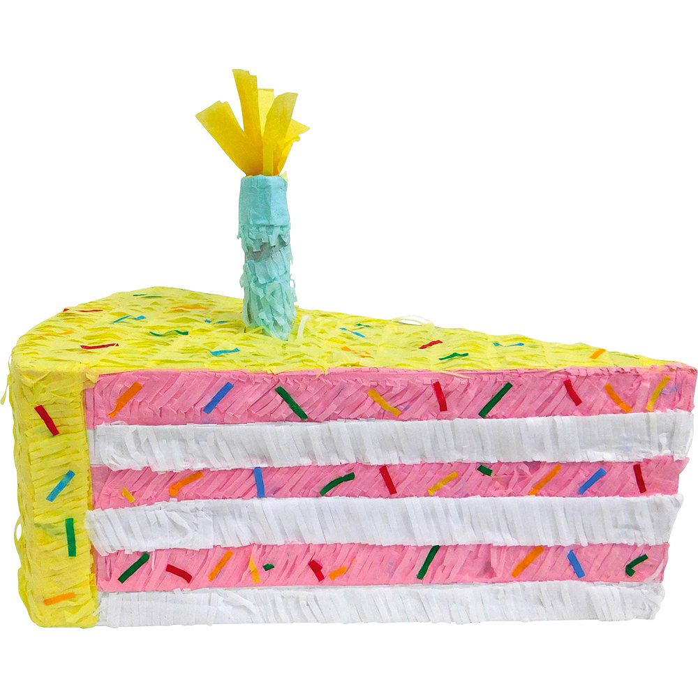Cake Slice Pinata with Candy Image #2