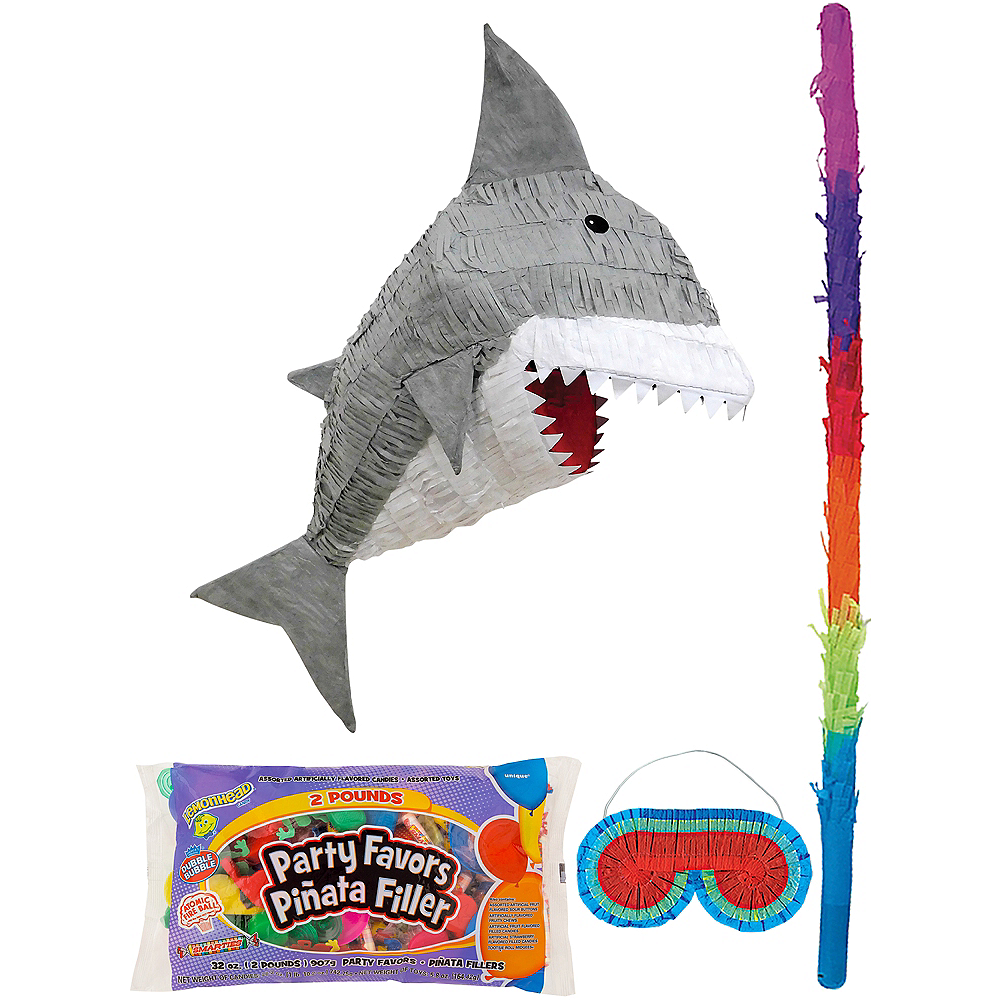 Nav Item for Gray Shark Pinata Kit with Candy & Favors Image #1