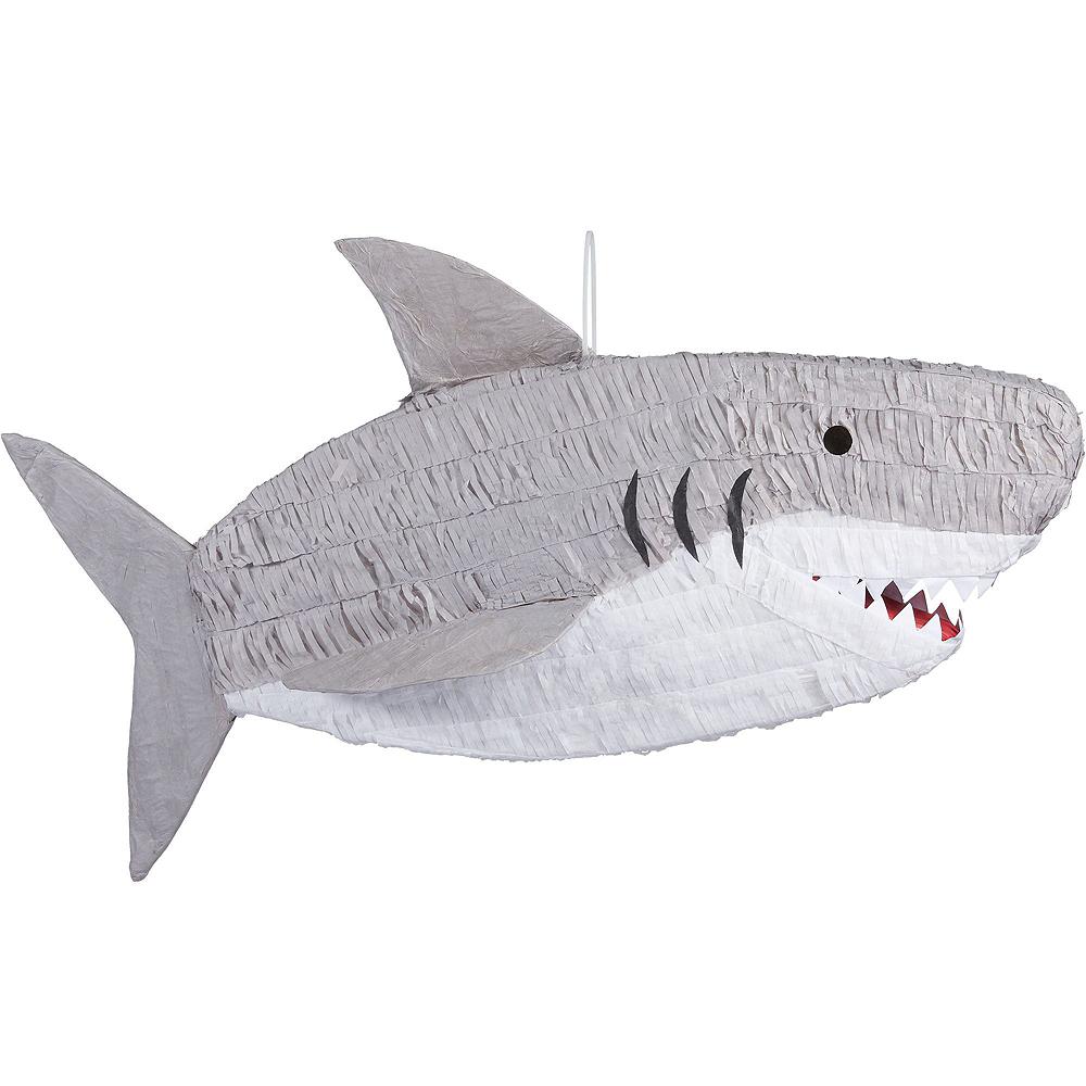 Gray Shark Pinata Kit with Candy Image #2