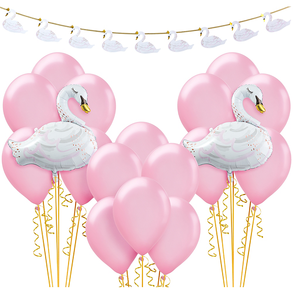 Swan Baby Shower Decorating Kit Party City