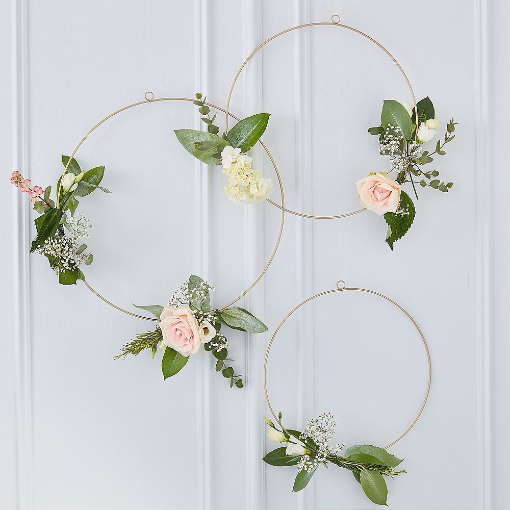 Metallic Rose Gold Floral Bridal Shower Photo Booth Kit Image #2