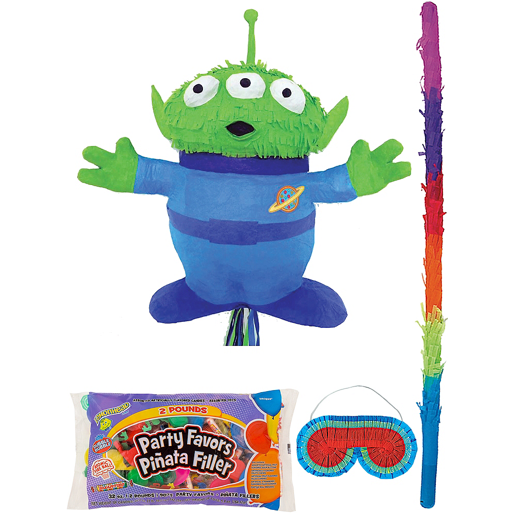 Pull String Alien Pinata Kit with Candy & Favors - Toy Story 4 Image #1
