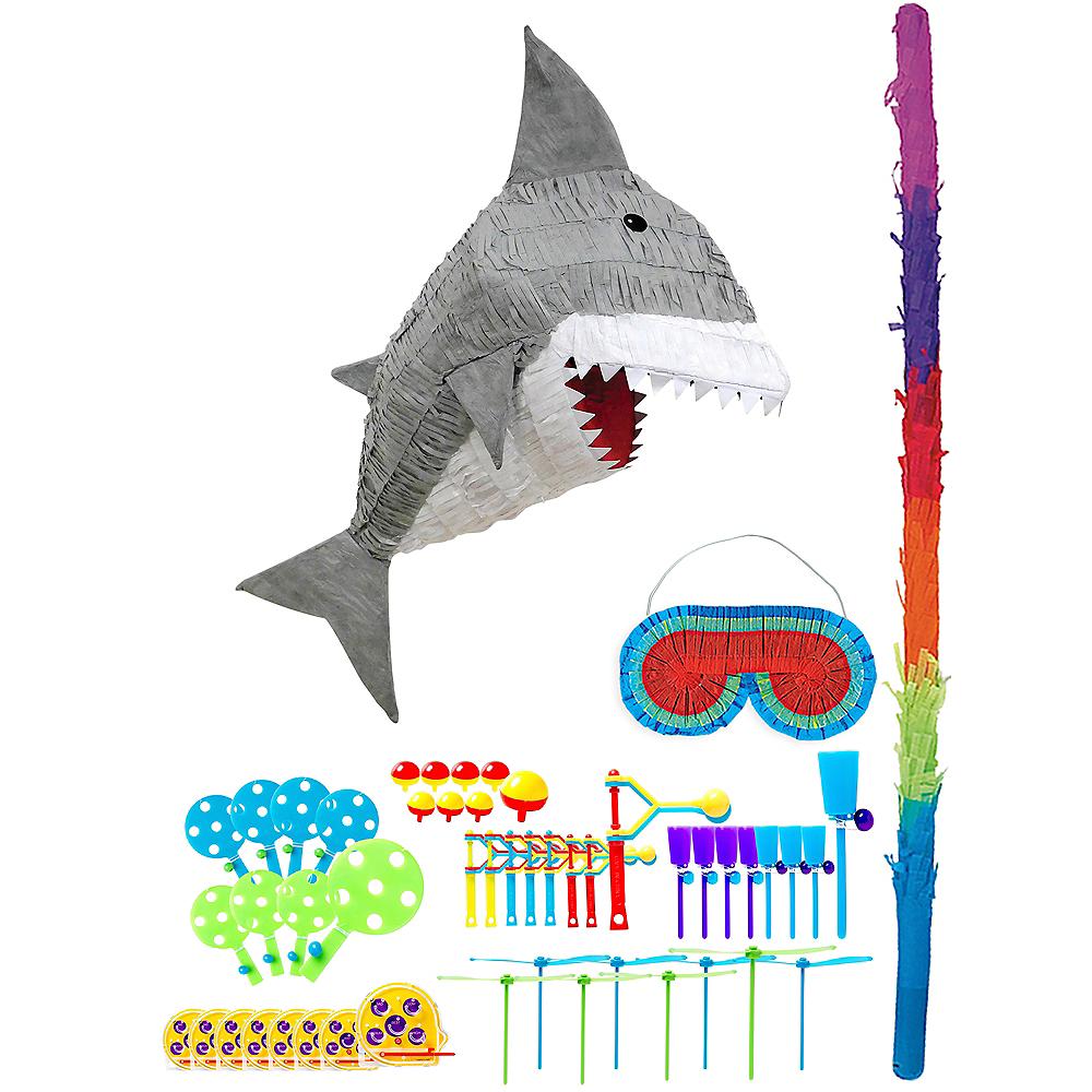Gray Shark Pinata Kit with Favors Image #1