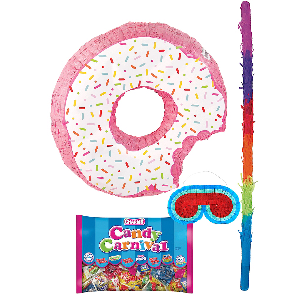 Donut Pinata with Candy Image #1