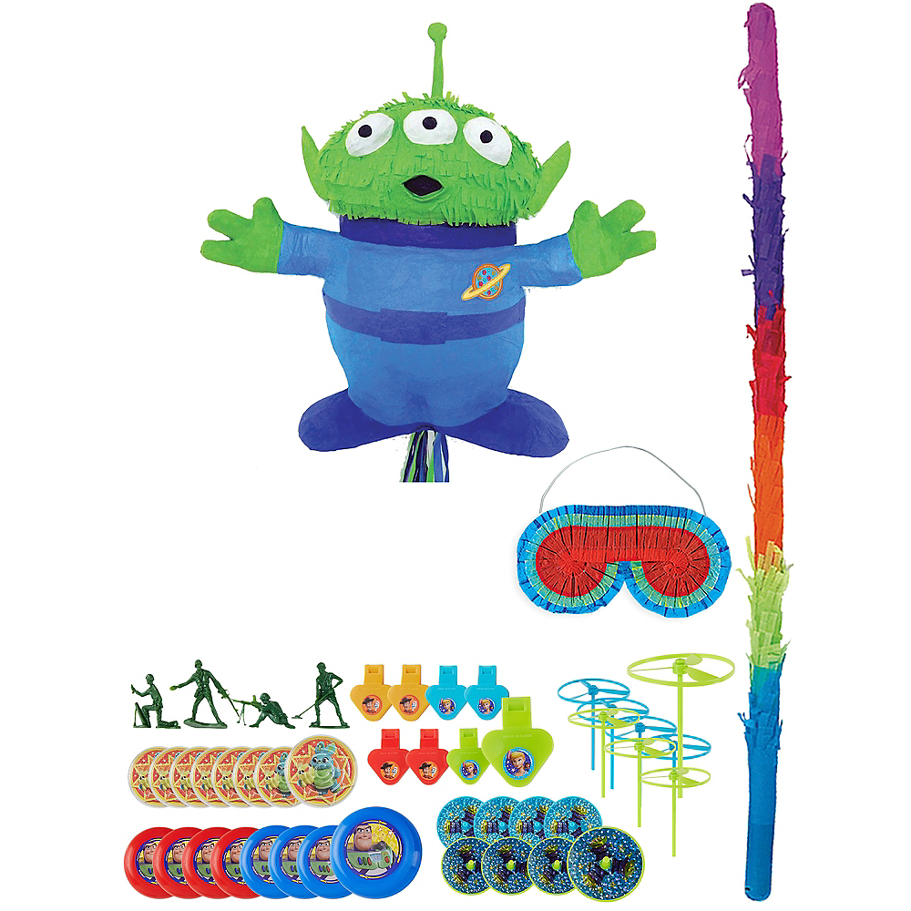 Pull String Alien Pinata Kit with Favors - Toy Story 4 Image #1