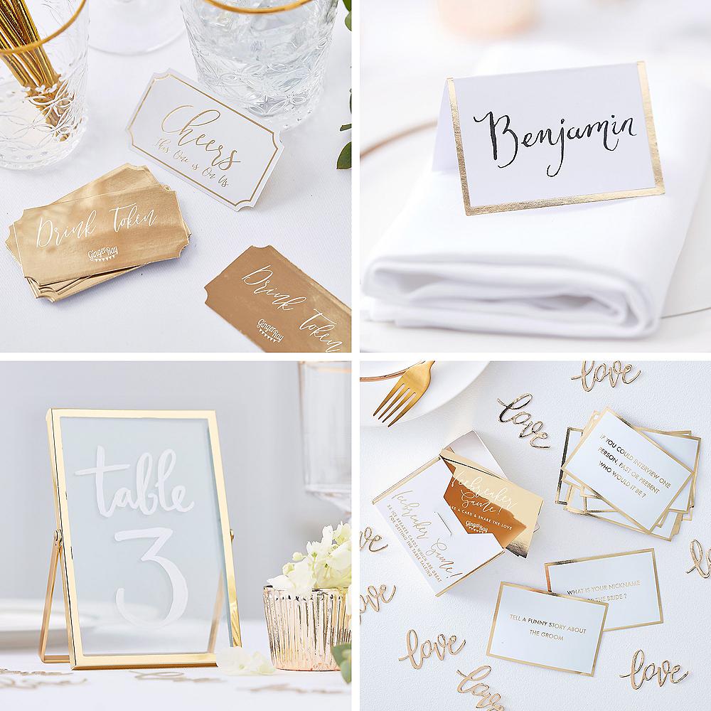 Metallic Gold Wedding Reception Table Kit Image #1
