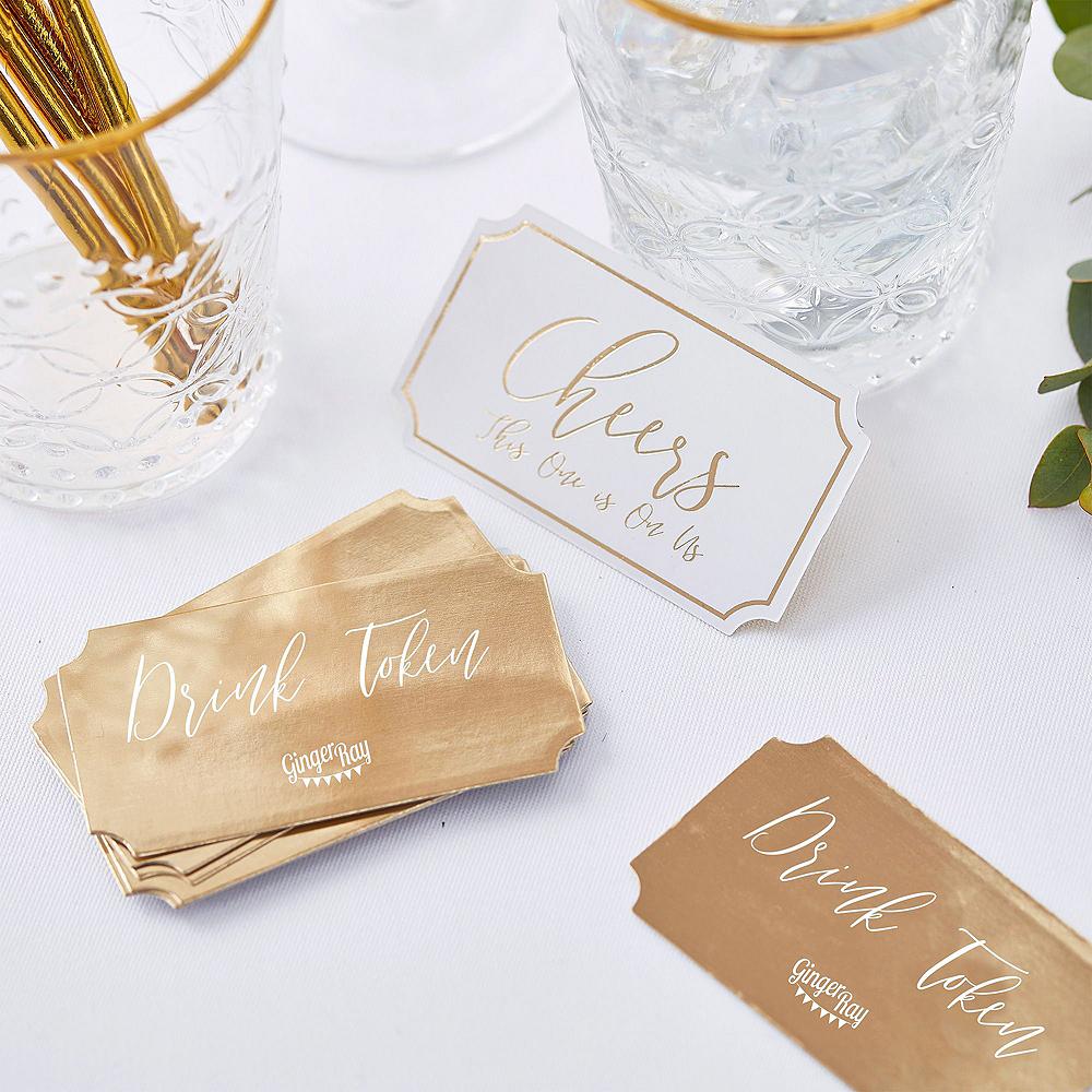 Metallic Gold Wedding Reception Table Kit Image #4