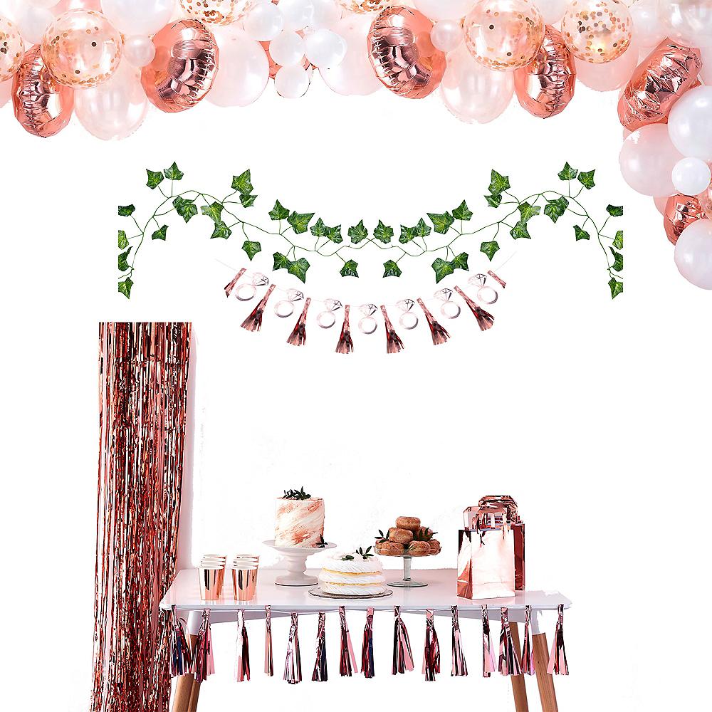 Metallic Rose Gold Floral Bridal Shower Decorating Kit Image #1