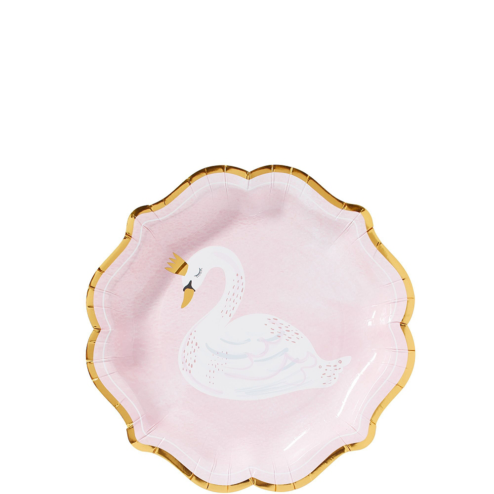 Nav Item for Swan Baby Shower Tableware Kit for 32 Guests Image #2