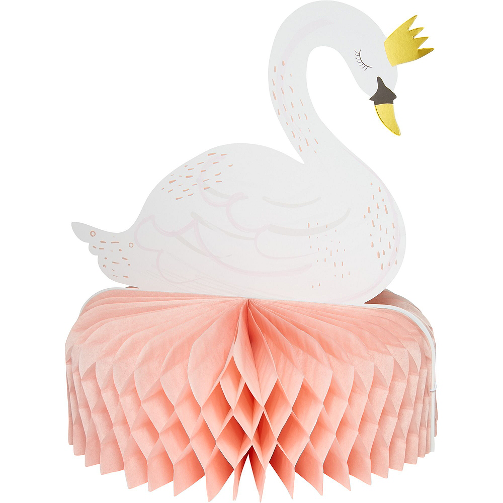Swan Baby Shower Tableware Kit for 32 Guests Image #9