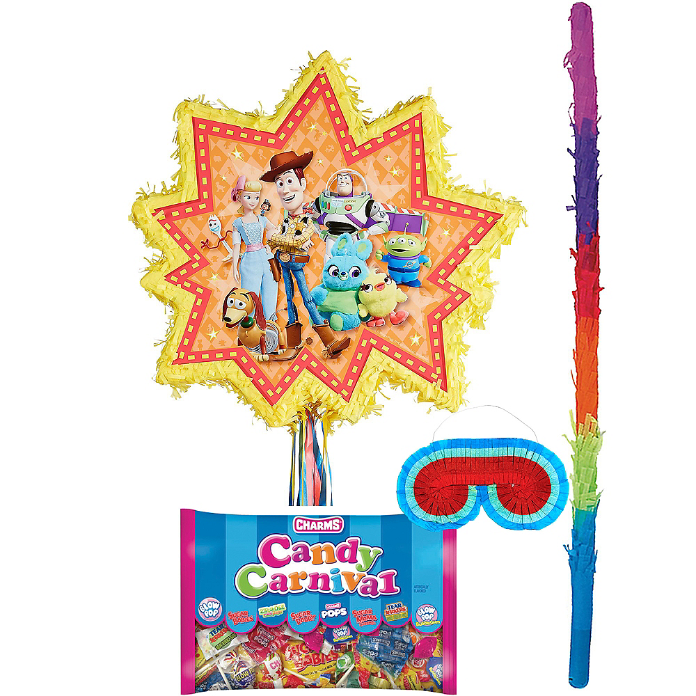 Pull String Toy Story 4 Pinata Kit with Candy Image #1