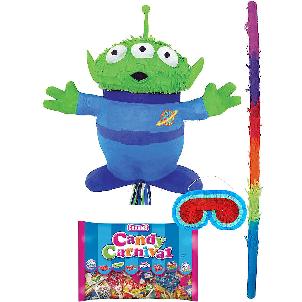 Pull String Alien Pinata Kit with Candy - Toy Story 4 Image #1