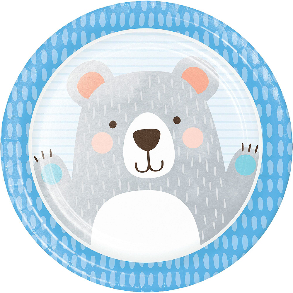 Beary Cute Baby Shower Tableware Kit for 32 Guests Image #3