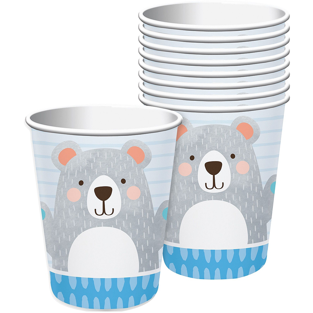 Beary Cute Baby Shower Tableware Kit for 32 Guests Image #6