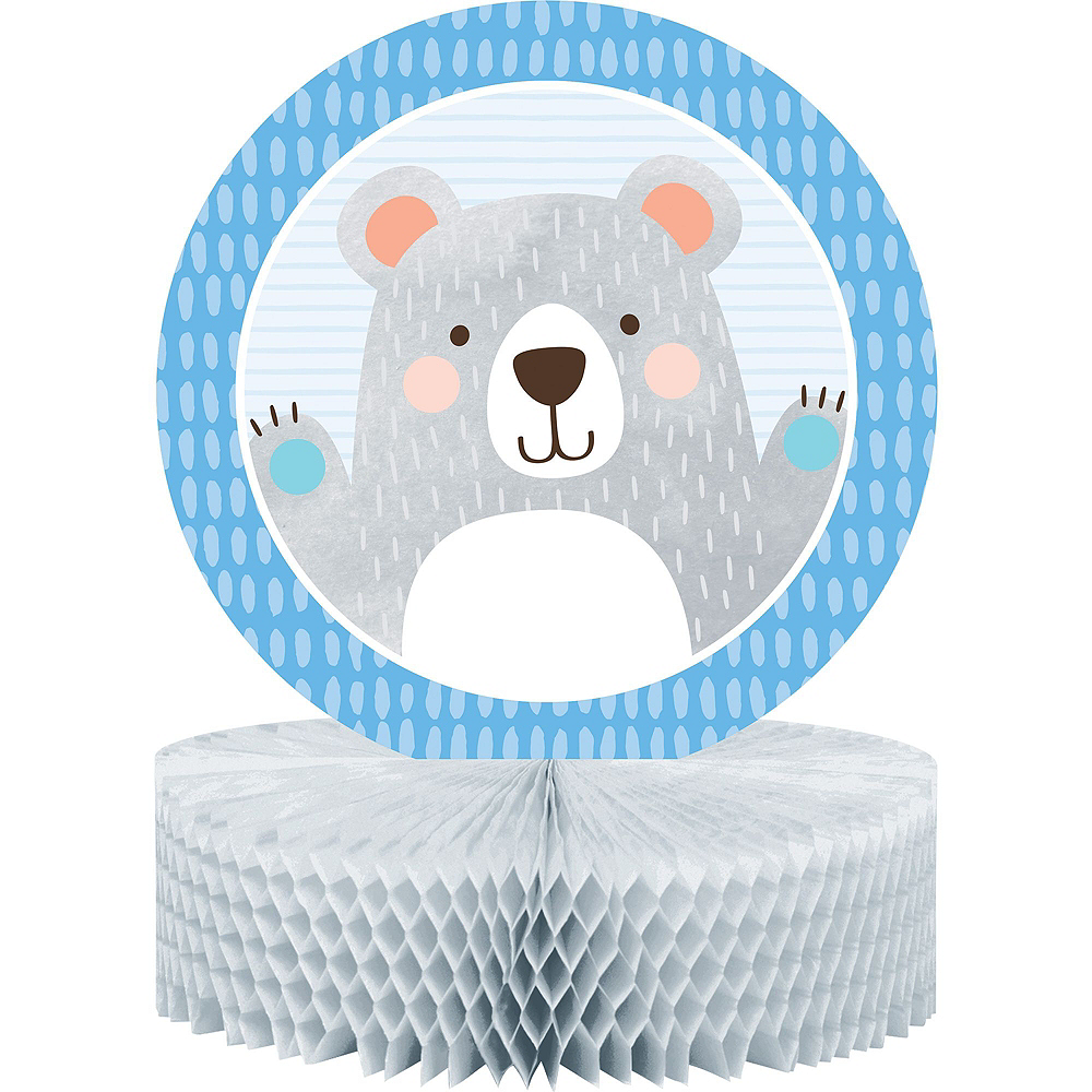 Beary Cute Baby Shower Tableware Kit for 32 Guests Image #9