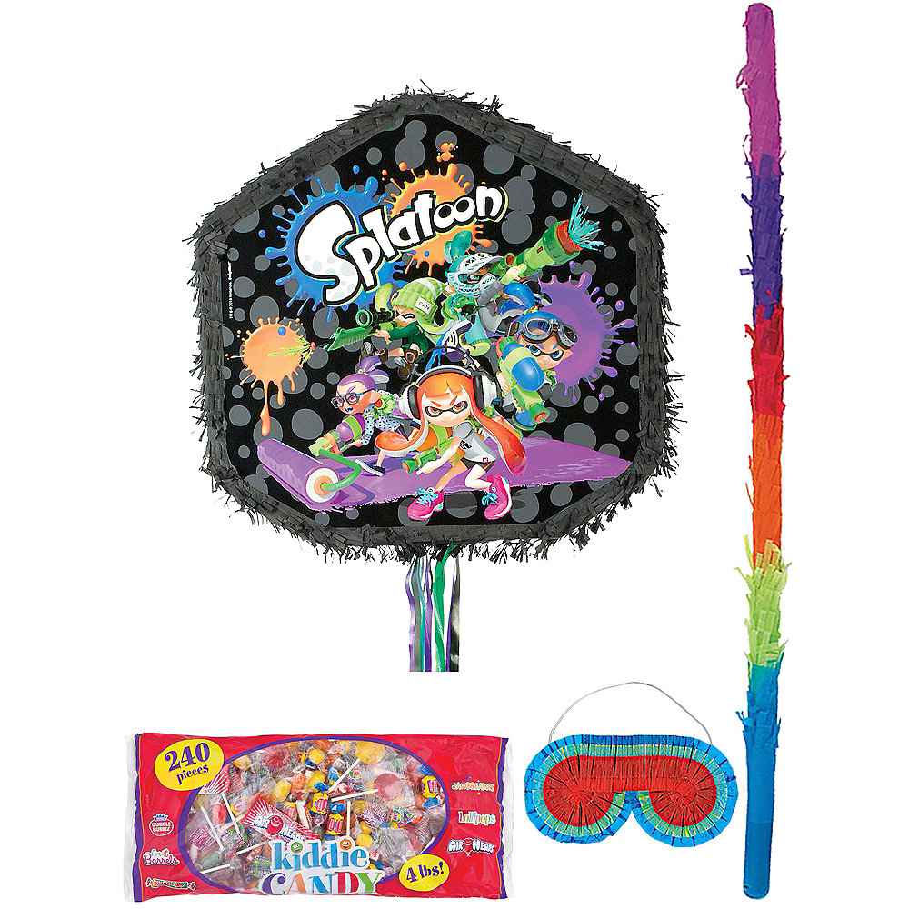 Pull String Splatoon Pinata with Candy Image #1
