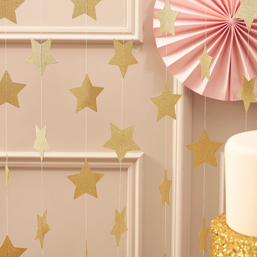 Metallic Rose Gold Twinkle Twinkle Baby Shower Decorating Kit Image #3