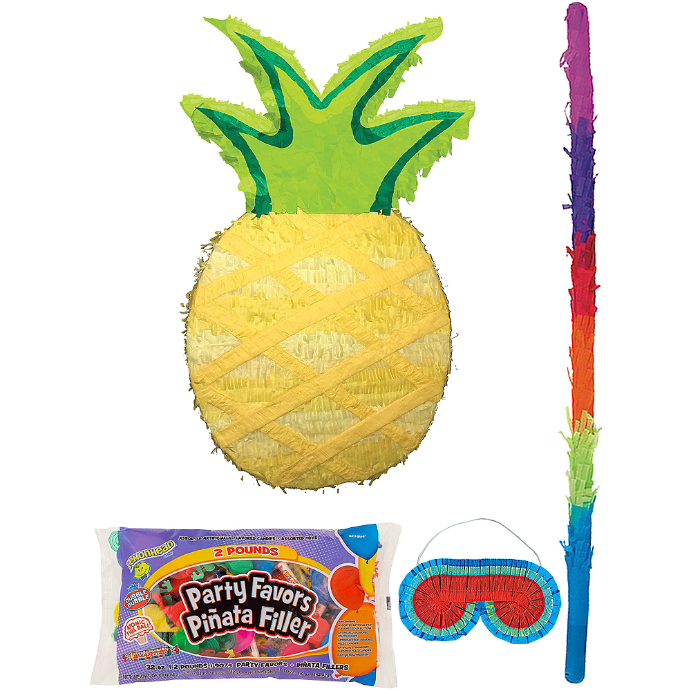 Pineapple Pinata Kit with Candy & Favors Image #1