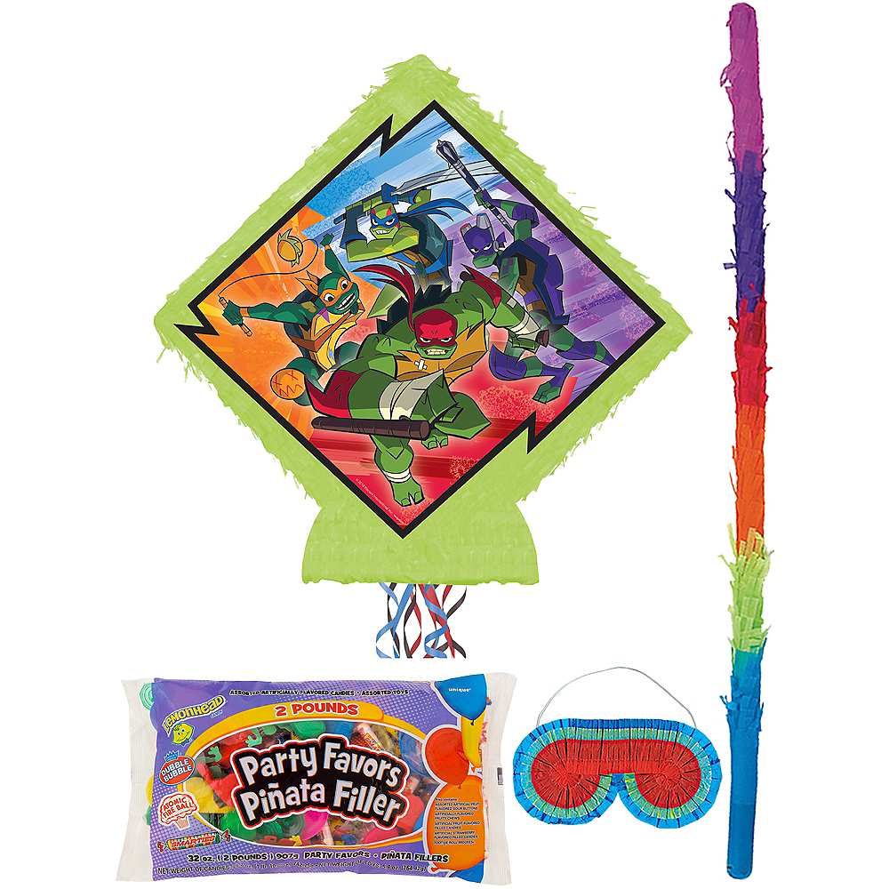 Pull String Rise of the Teenage Mutant Ninja Turtles Pinata Kit with Candy & Favors Image #1