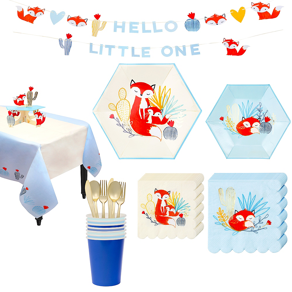Baby Fox Tableware Kit for 16 Guests Image #1