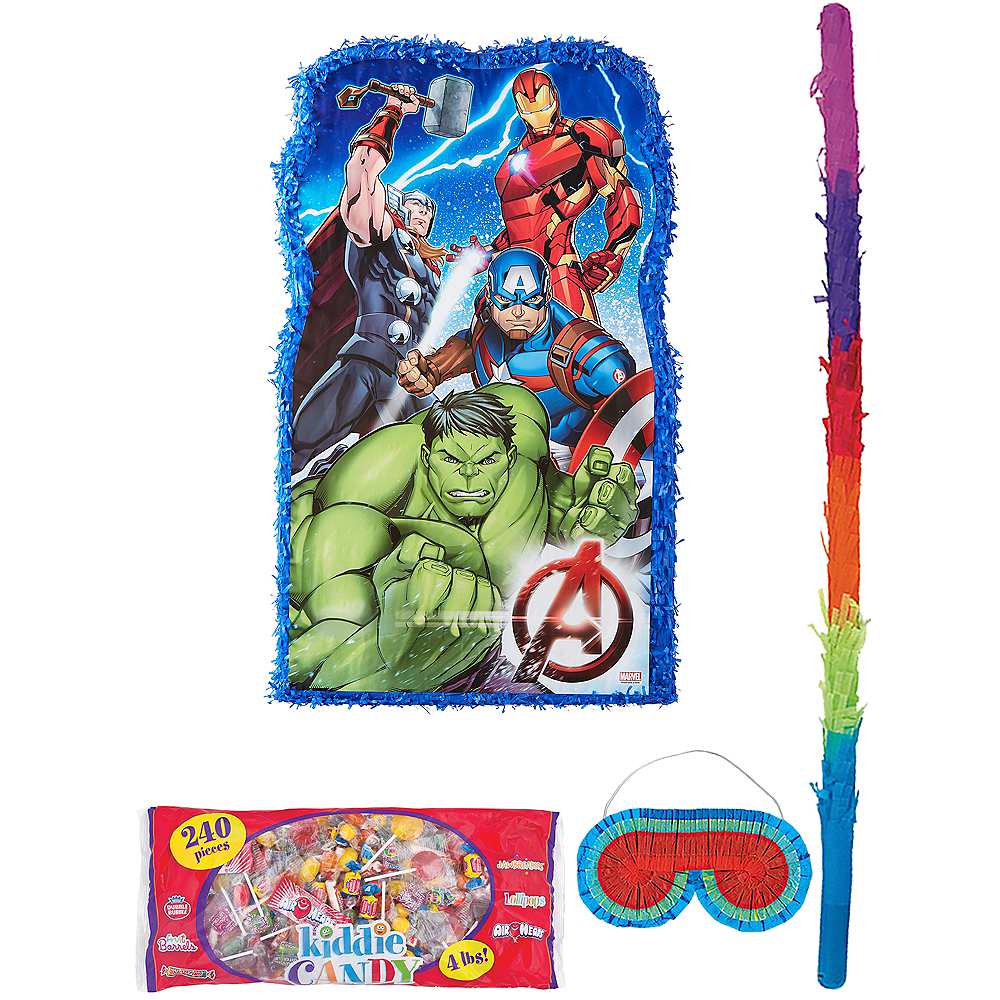 Giant Avengers Pinata Kit with Candy Image #1