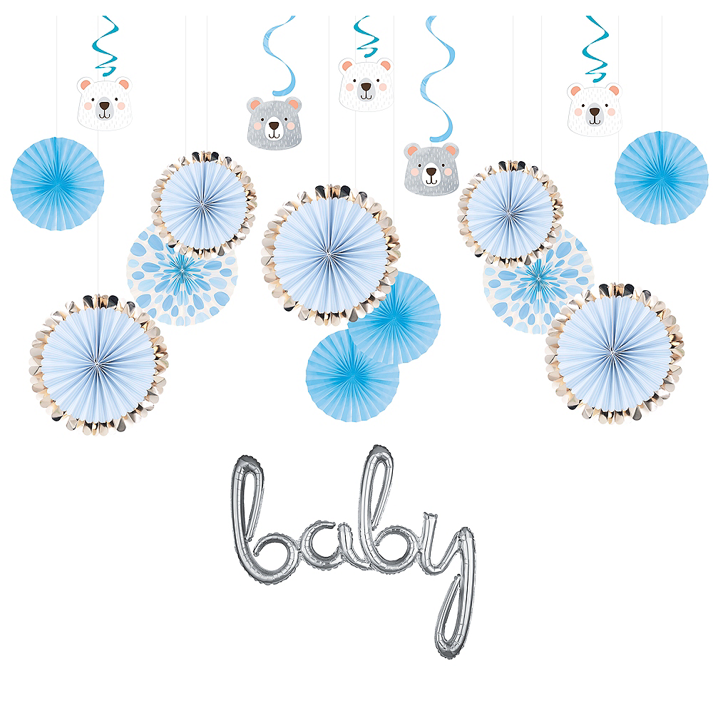 Beary Cute Baby Shower Decorating Kit Image #1