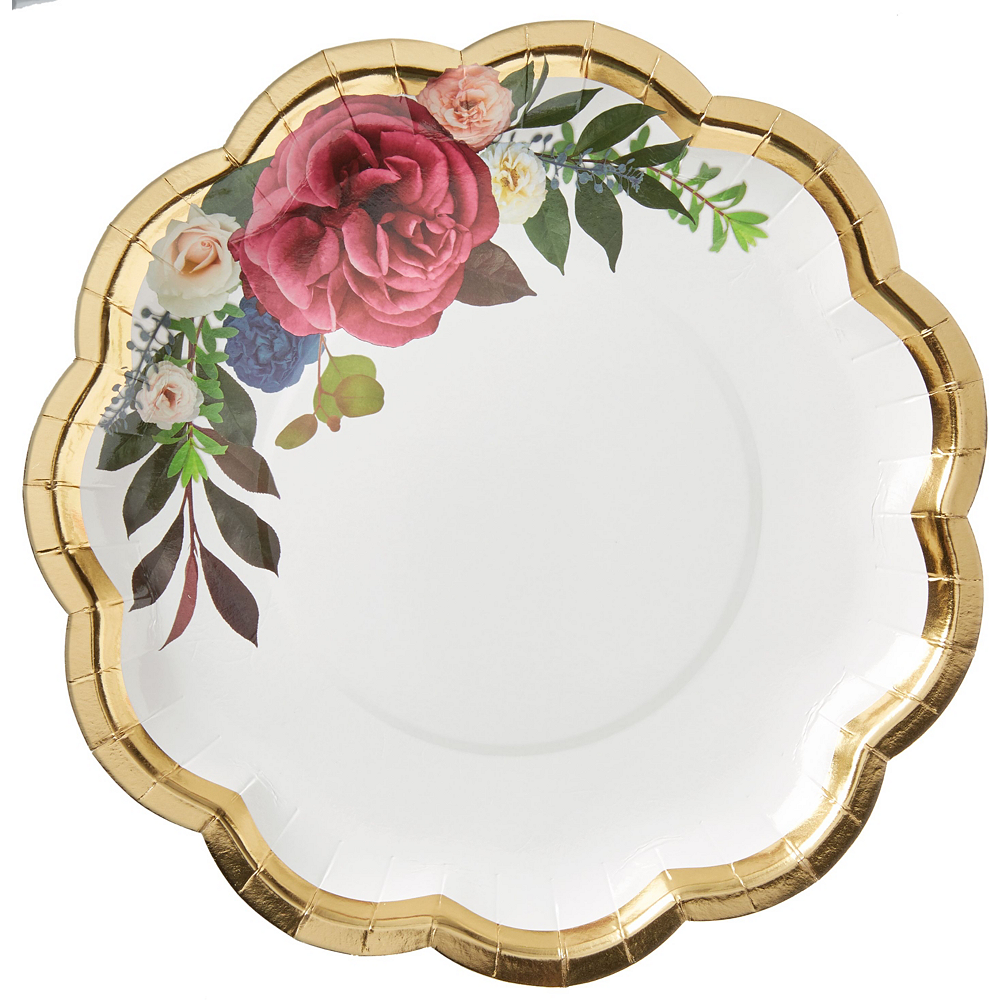 Metallic Gold 40th Anniversary Rose Tableware Kit for 50 Guests Image #2