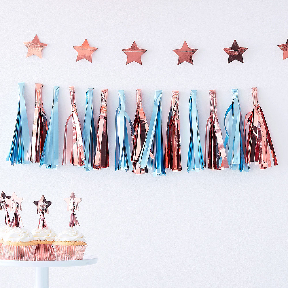 Blue & Pink Gender Reveal Party Decorating Kit Image #5
