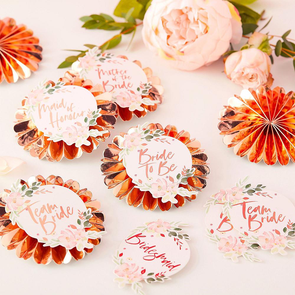 Metallic Rose Gold Floral Bridal Shower Party Kit Image #7