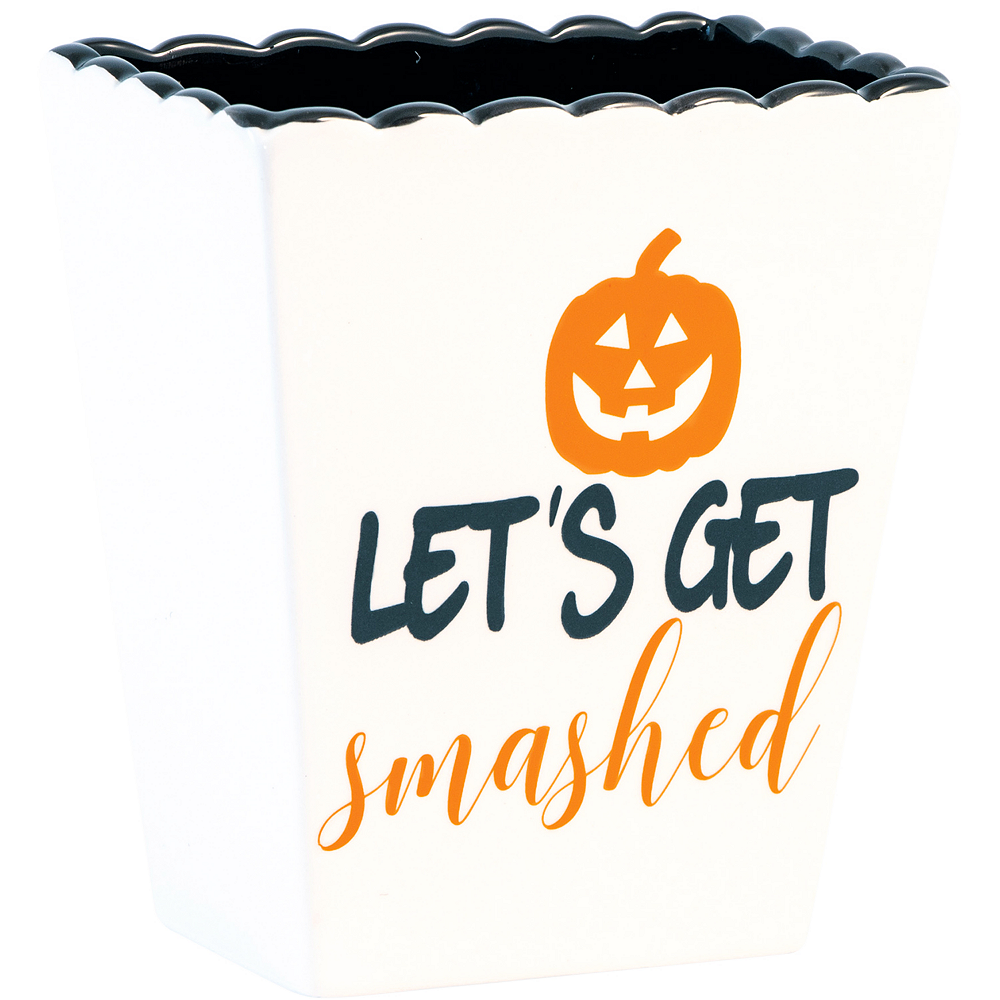 Let's Get Smashed Ceramic Halloween Container Image #1