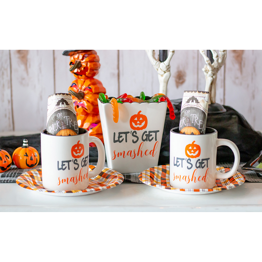 Let's Get Smashed Ceramic Halloween Container Image #2