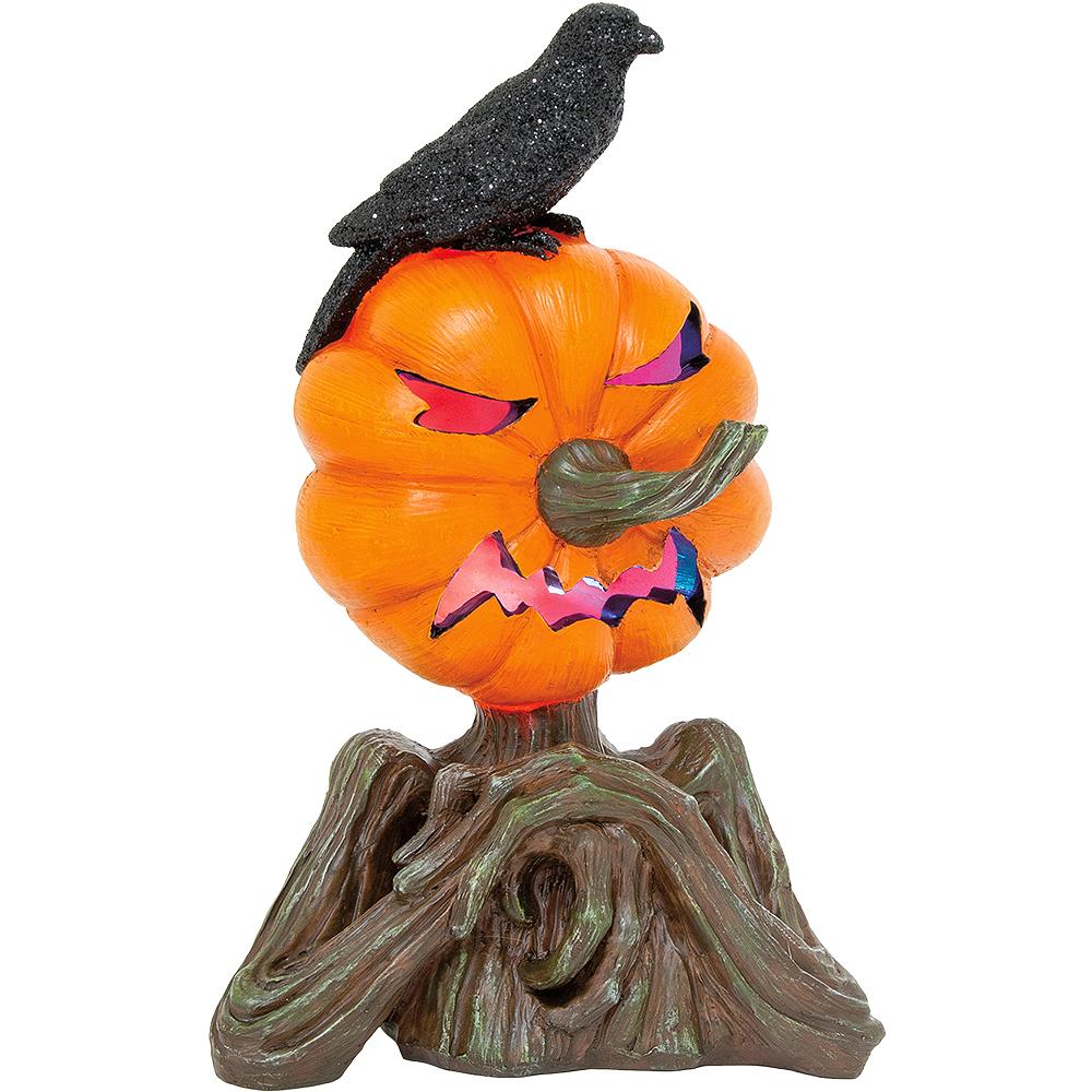 Light-Up Jack-o'-Lantern Tree Stump Image #1