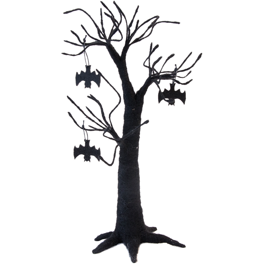 Black As Night Felt Tree Decoration Image #1
