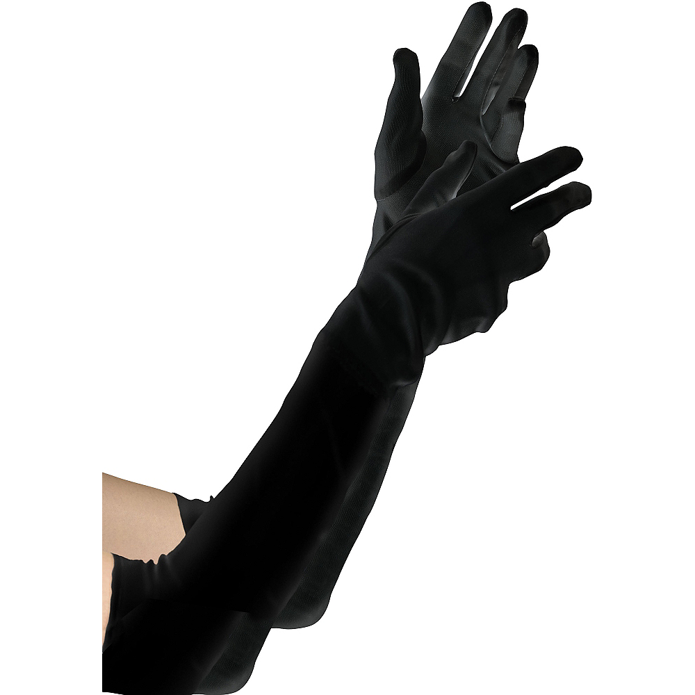 Child Black Elbow Gloves Image #1