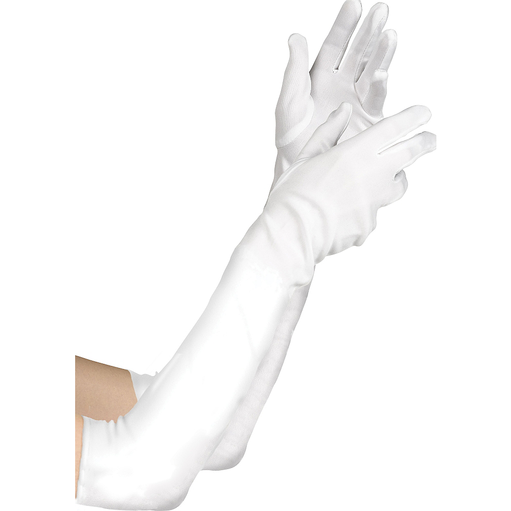 Nav Item for Child White Elbow Gloves Image #1
